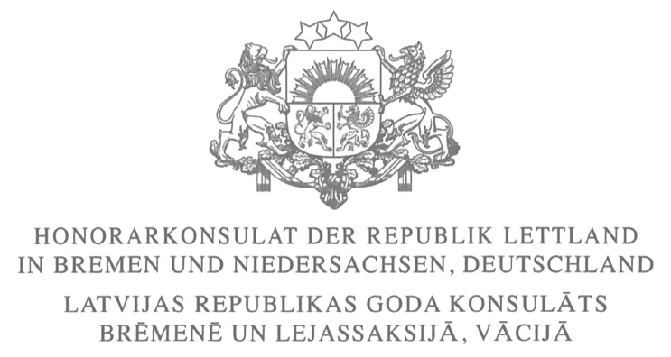 Honorarkonsulat Latvia Logo